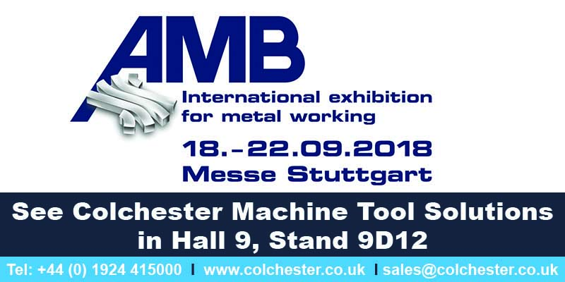 AMB 2018 - Colchester Machine Tool Solutions