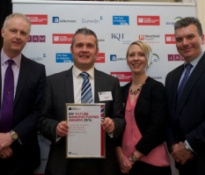 Philip Cullen, 600 Group Marketing Manager, pictured (second left) with the EEF Future Manufacturing Award