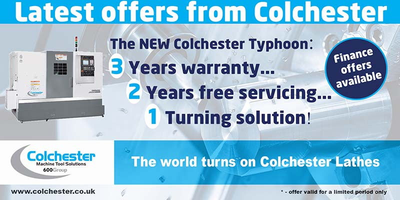 Colchester Typhoon CNC Turning Centre 3, 2, 1 promotion